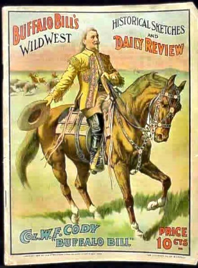 Cartel del show de Buffalo Bill.