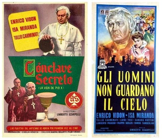 Carteles de la película sobre San Pío X.