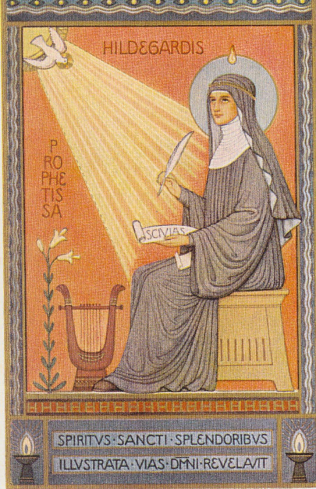 Icono de Santa Hildegarda, Abadía de Beuron 1930