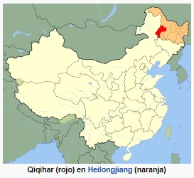 qiqihar_china_mapa