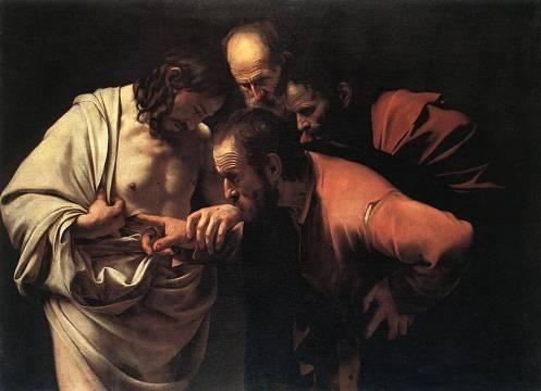 Tomás y las heridas de Jesús, por Caravaggio