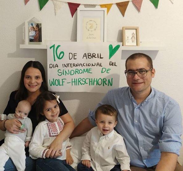 Gemma, Santi, Juan de la Cruz y sus otros dos hijos