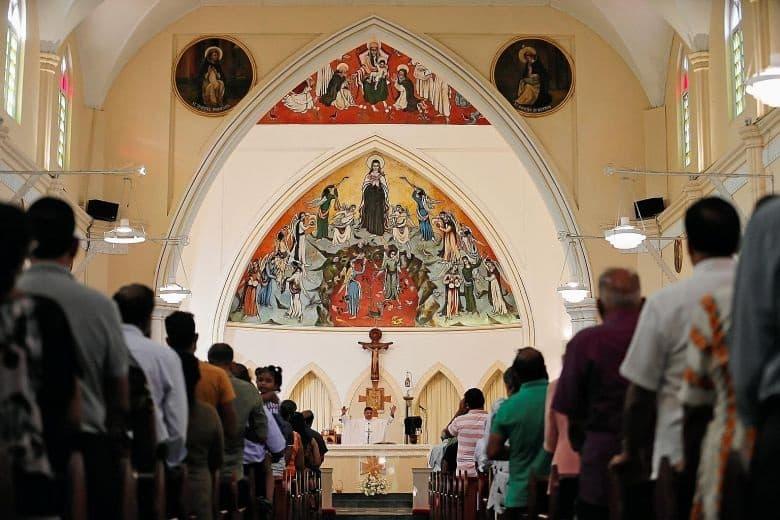 Misa católica en la región de Kerala (India)