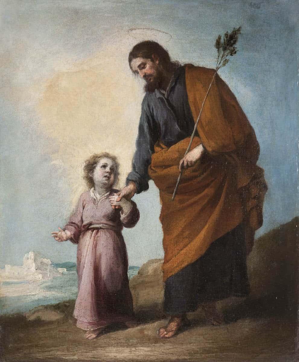 Cuadro de San José con el Niño, de Murillo