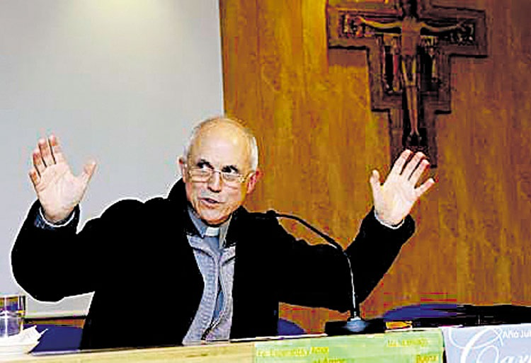 Fray Josemaría es exorcista en Santiago de Compostela