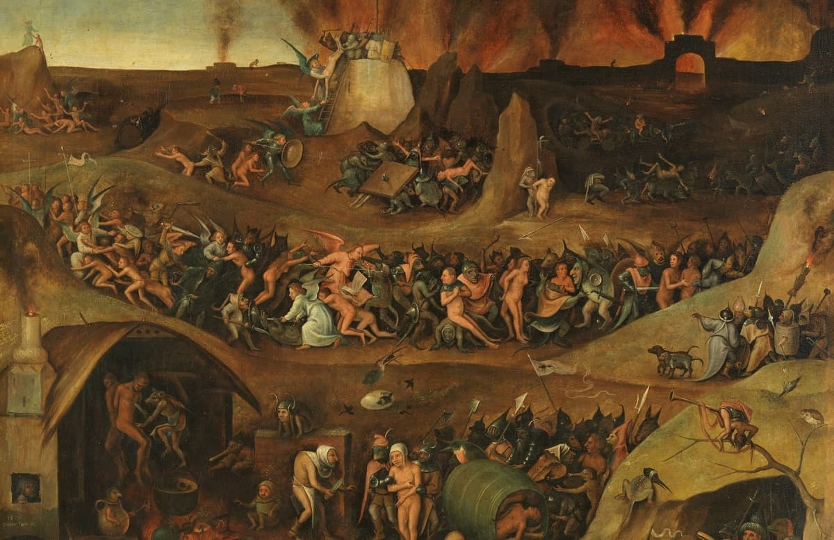 El Infierno, pintado por Peeter Huys en 1570 / Museo Nacional del Prado