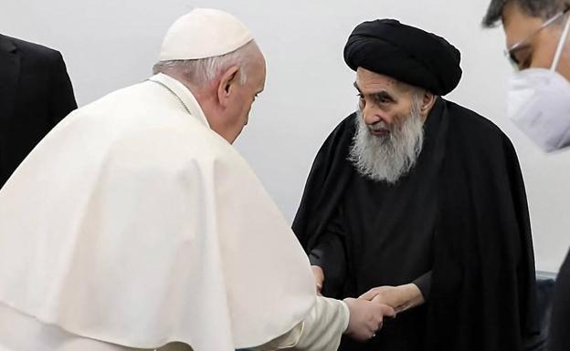 El Papa, con el ayatolá Sistani
