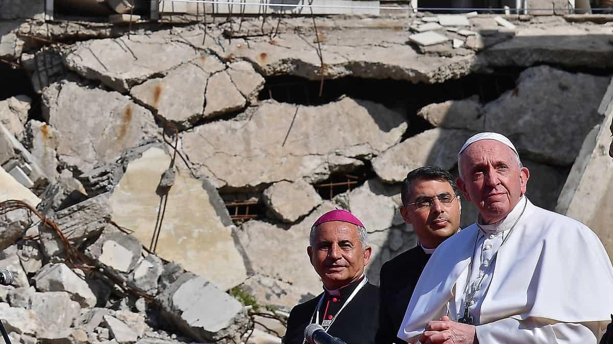 El Papa Francisco en Qaraqosh