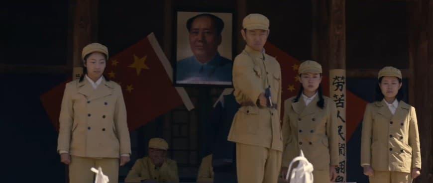 Lin Zhao en una ejecución, escena de la película Five Cents Life