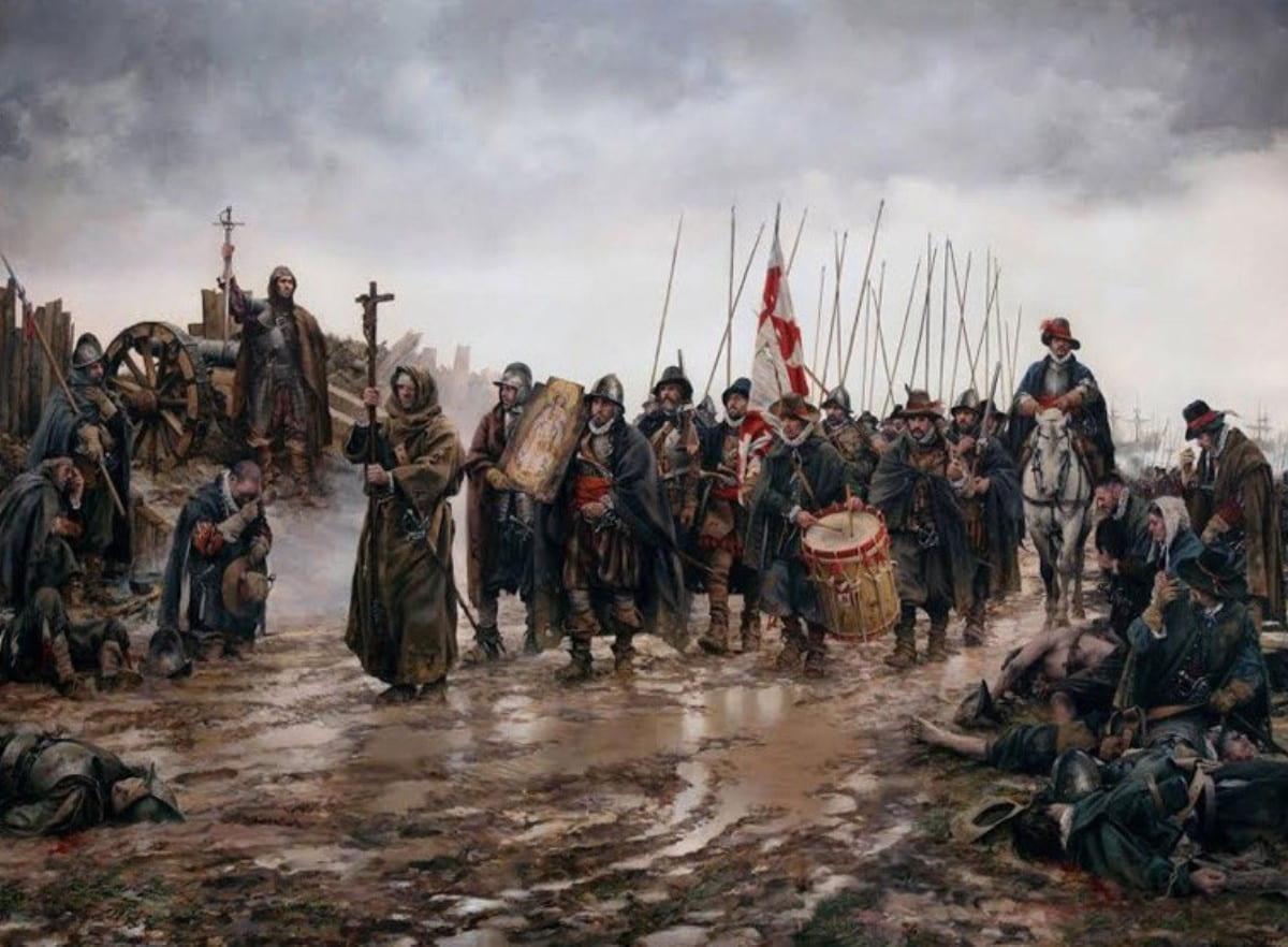 Los soldados del tercio llevaron en procesión la pintura de la Inmaculada que encontraron en Empel milagrosamente