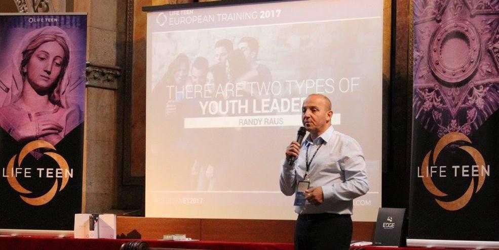 Randy Raus en el Encuentro de LifeTeen de 2017 en Barcelona