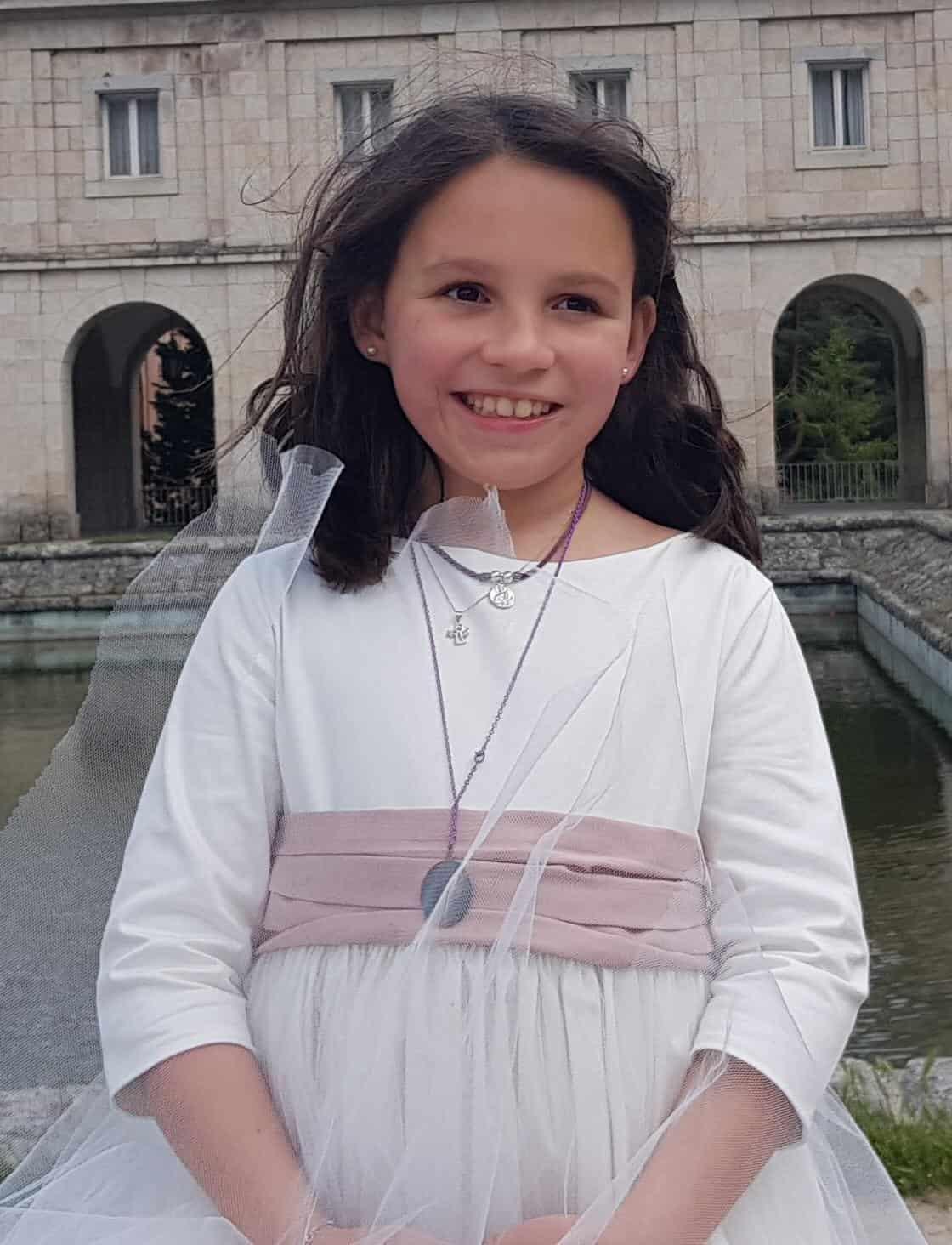 Teresita Castillo, el día de su comunión