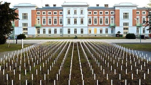 Memorial en Viena a las víctimas del hospital psiquiátrico infantil.