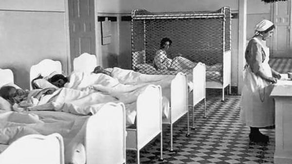 Un hospital infantil durante el régimen nacional socialista.