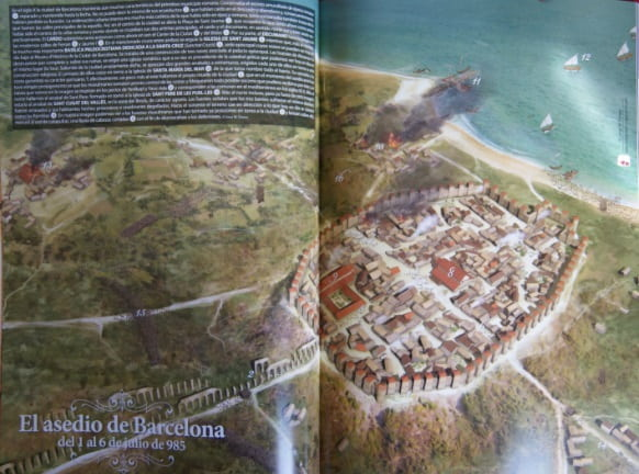 Asedio de Barcelona del 985 por Almanzor, ilustrado en revista Desperta Ferro en 2019