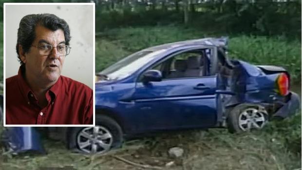 Estado en el que quedó el vehículo en el que viajaba Oswaldo Payá cuando murió