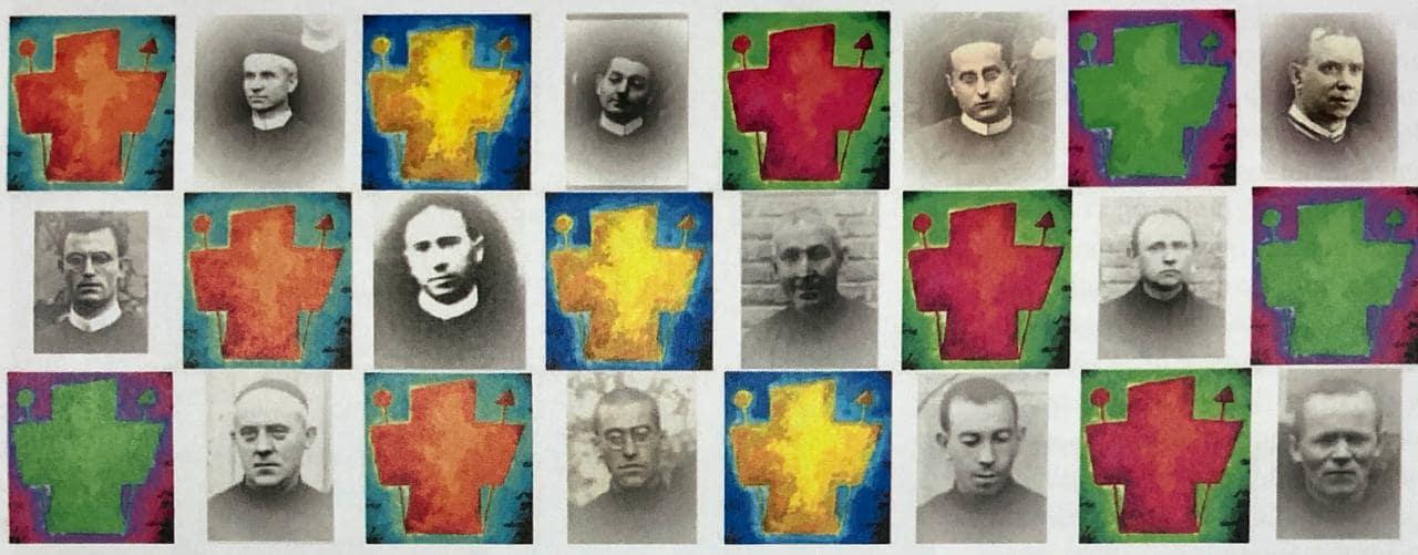 Collage con mártires redentoristas de Madrid de 1936