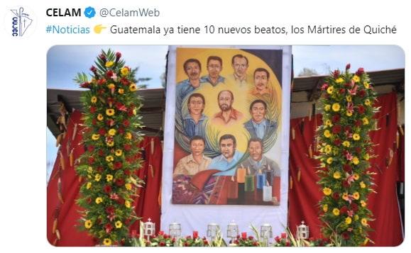 Los 10 mártires del Quiché, en las redes sociales de Celam