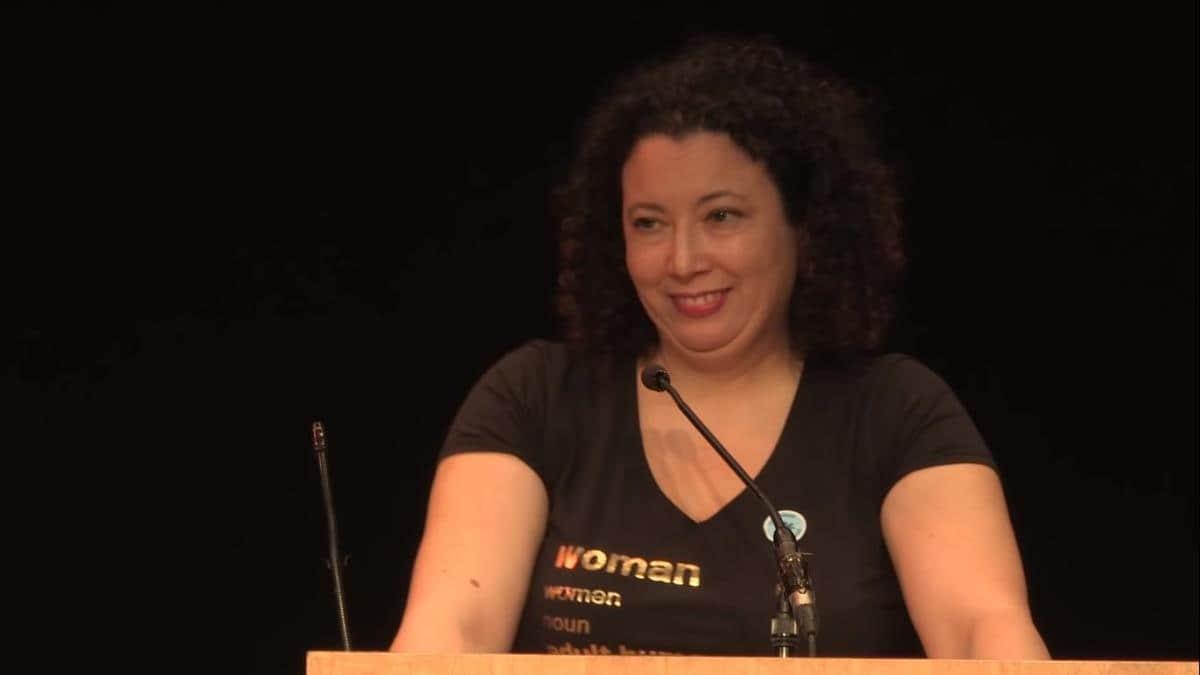 Maya Forstater, durante una conferencia.