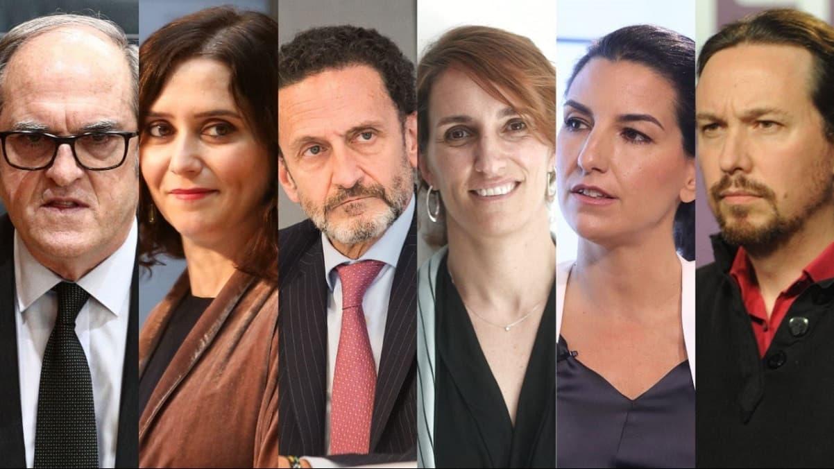 Candidatos a elecciones regionales Madrid 2021
