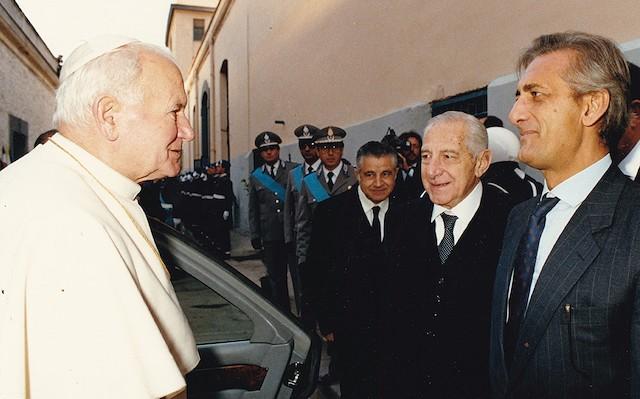Juan Pablo II con Nicolò Amato.