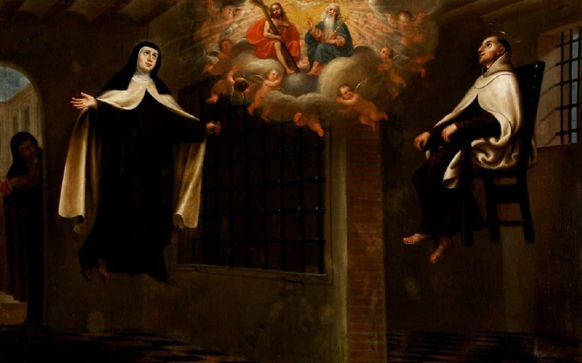 Cuadro de Santa Teresa y San Juan de la Cruz levitando