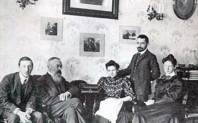 Stravinsky con Rimsky-Korsakov.