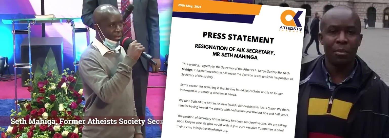 Nota de la asociación Ateos en Kenia anuncia la dimisión de su secretario