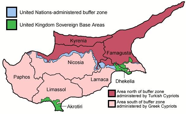 Mapa de Chipre.