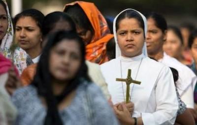 Cristianos en la India.
