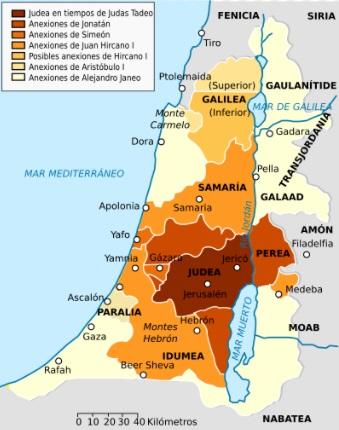 Mapa de los Asmoneos