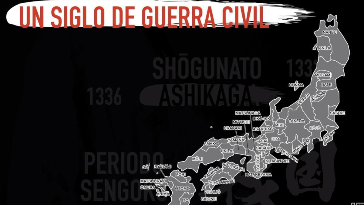 Mapa Japón en Sengoku.