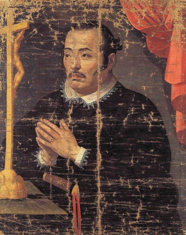 Hasekura Tsunenaga rezando.
