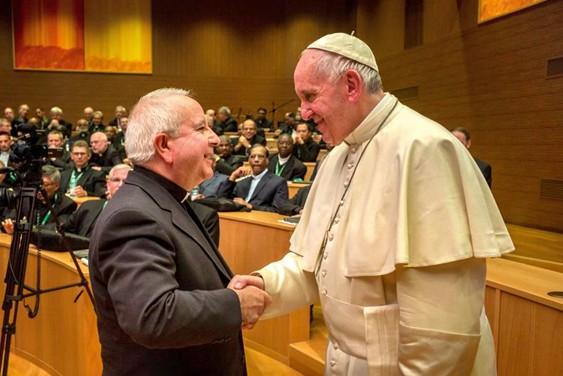 El Papa Francisco y el hermano Wenceslao Soto.