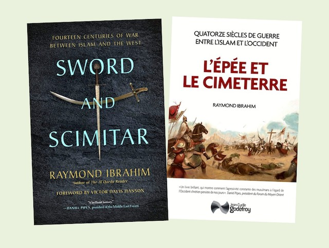 Ediciones inglesa y francesa de La espada y la cimitarra.