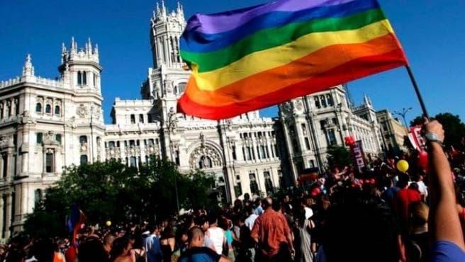 Bandera LGTB en Madrid