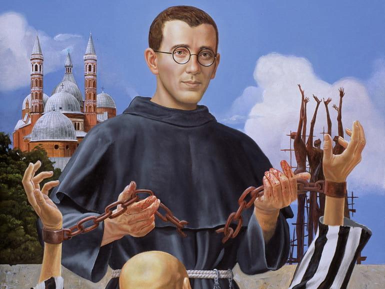 Icono de fray Placido Cortese, asesinado por los nazis, que salvó a muchos con su red clandestina