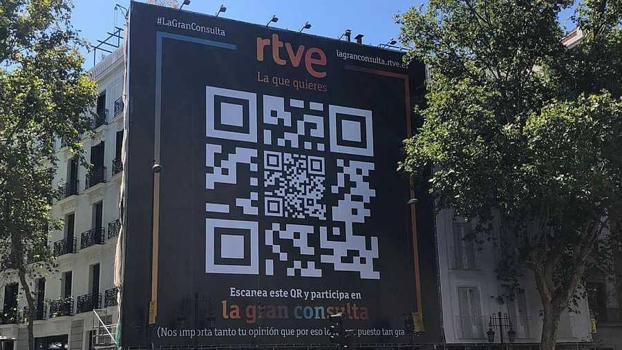 Propaganda callejera de La Gran Consulta de RTVE, hasta enero 2022