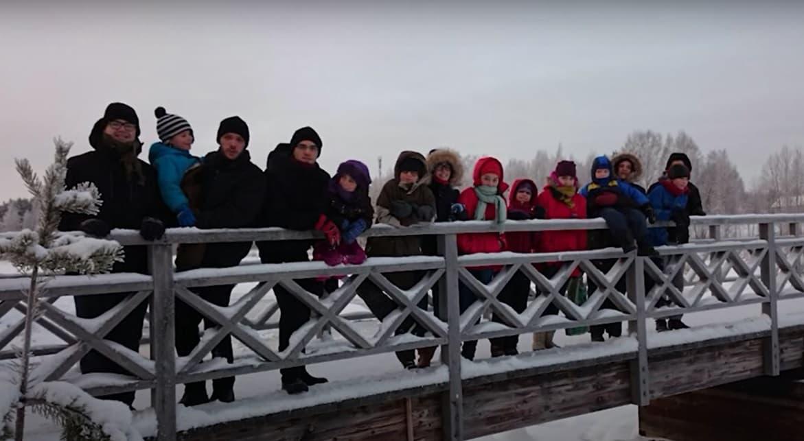 Familia Pérez Gutiérrez en la misión en Finlandia