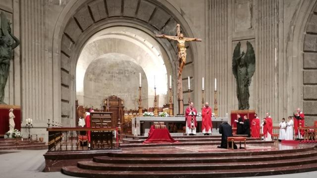 Fray José Antonio en la abadía del Valle de los Caídos.