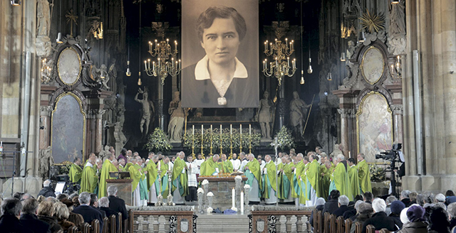 Beatificacion de Hildegard Burjan en Viena