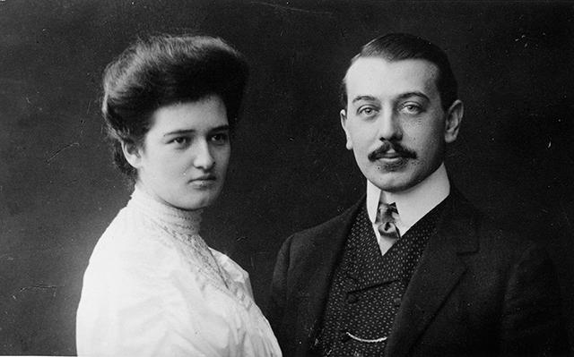 Hildegard Burjan con su marido Alexander en 1907