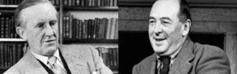 Tolkien, a la izquierda, y su amigo C.S.Lewis, a la derecha - para el arzobispo Chaput, ilustran bien la enseñanza de Laudato Si sobre la naturaleza