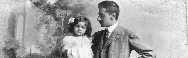 Julián Juderías con su hija Clementina. Foto: Fondo Juderías.