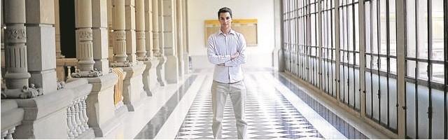 Robert Ferrer, estudiante provida en la UB - foto de Inés Baucells para ABC
