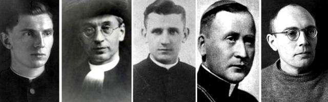 Cinco beatos muertos en Dachau - Andritzki, Brandsma, Frelichowsky, Kozal y Leisner, que se ordenó allí a escondidas
