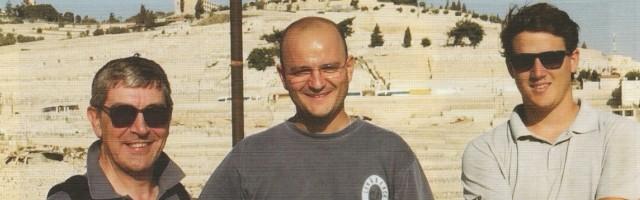 José Miguel García, Yago Gallo y Marcos Pou en Jerusalén