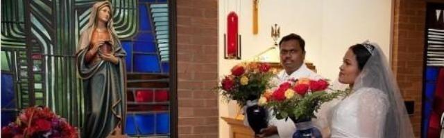 a través de sueños, la virgen guió a un matrimonio de hindúes hacia