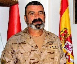 Coronel Salom, de la Legión: «En situaciones de riesgo ayuda mucho encomendarte a Dios o la Virgen