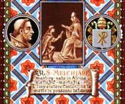 San Melquíades, papa.